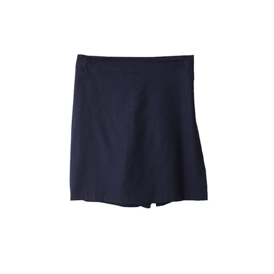 ショートパンツ レディース ラップスカート風 パンツ リネン パンツ 巻きスカート 短パン レディース 夏 半ズボン涼しいパンツリネン パンツ レディース ラップス 64