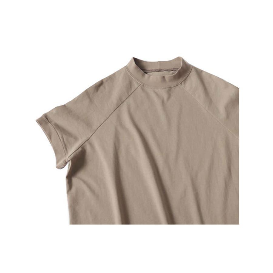 トップス レディース 半袖 ハイネック tシャツ レディース 半袖 ラグラントップス 無地 tシャツ トップス半袖カットソーレディース 半袖 tシャツ 黒 トップス 白 5