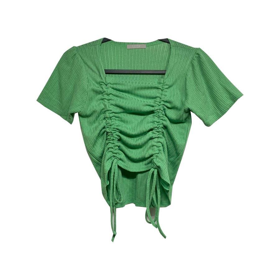 トップス レディース 半袖 スクエアネック カットソー tシャツ 夏 トップス レディース きれいめ ギャザー トップス半袖カットソー夏 カットソー tシャツ スクエア 47