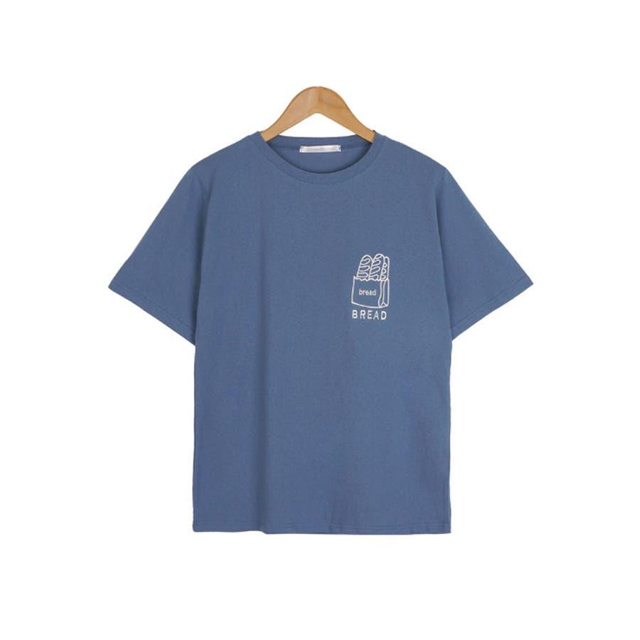 トップス レディース 半袖 刺繍 ロゴtシャツ レディース クルーネック 半袖 トップス レディース 刺しゅうカットソー半袖tシャツレディース tシャツ 韓国 半袖 59