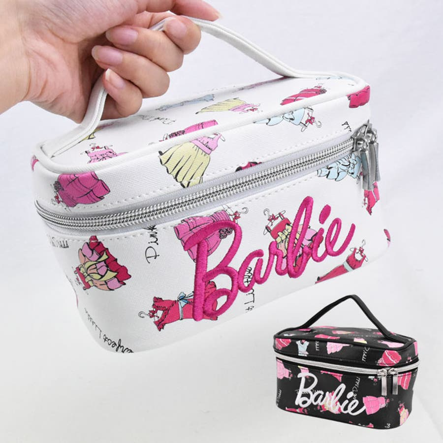 9006cf5e7220c Barbie(バービー) ドレス柄 バニティーポーチ コスメポーチ 小物入れ キッズ レディース オールシーズン