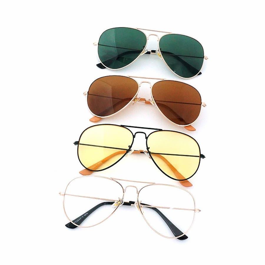 サングラス メンズ レディース ブランド G15 ブラウン イエロー クリア カラー レンズ おしゃれ UVカット7JEWELRYティアドロップ サングラス 4