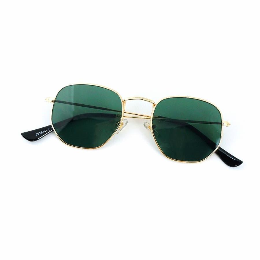 サングラス メンズ レディース ブランド G15 スモーク クリア カラー レンズ おしゃれ UVカット 7JEWELRYヘキサゴナル サングラス 3