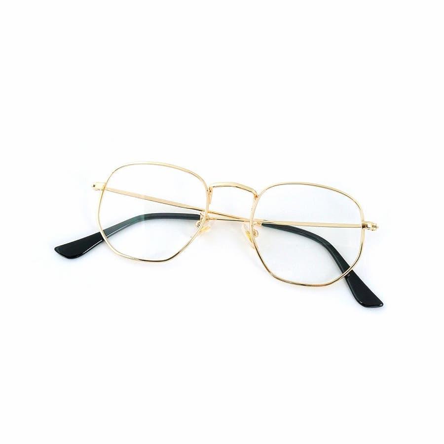サングラス メンズ レディース ブランド G15 スモーク クリア カラー レンズ おしゃれ UVカット 7JEWELRYヘキサゴナル サングラス 4