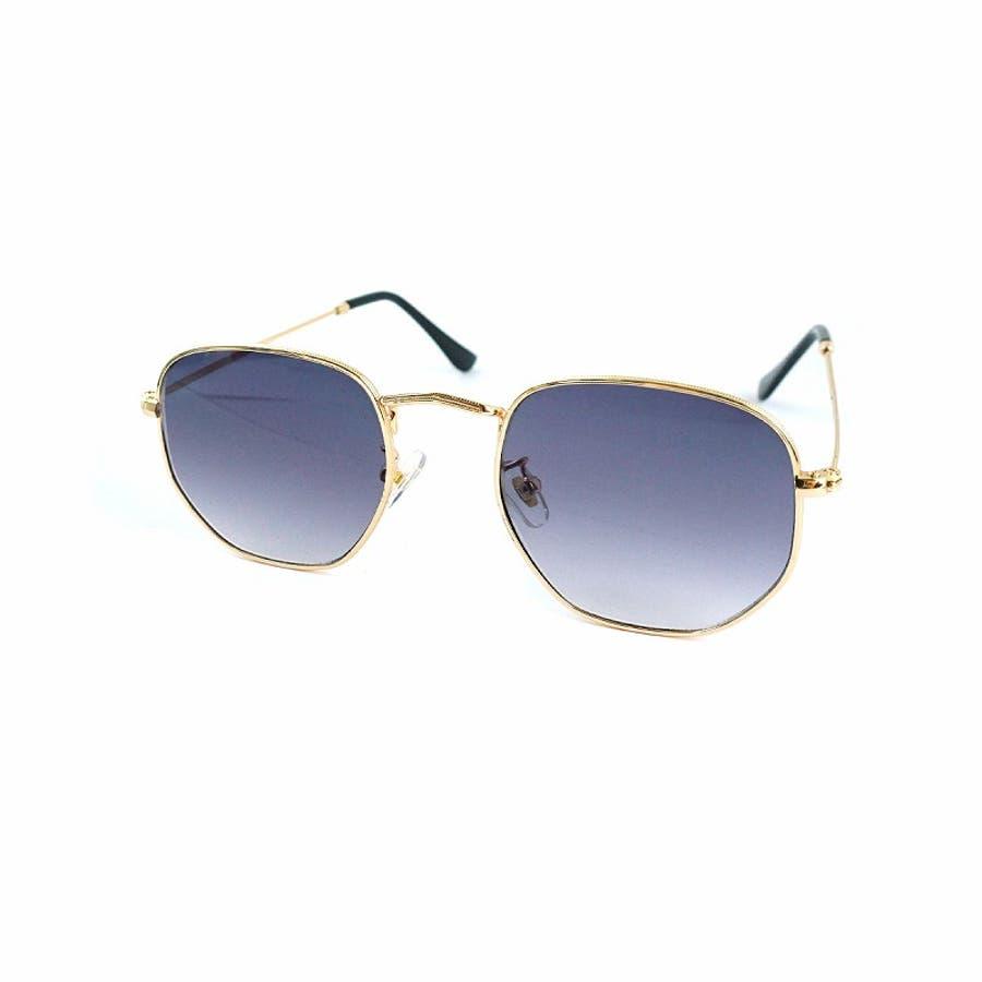 サングラス メンズ レディース ブランド G15 スモーク クリア カラー レンズ おしゃれ UVカット 7JEWELRYヘキサゴナル サングラス 23