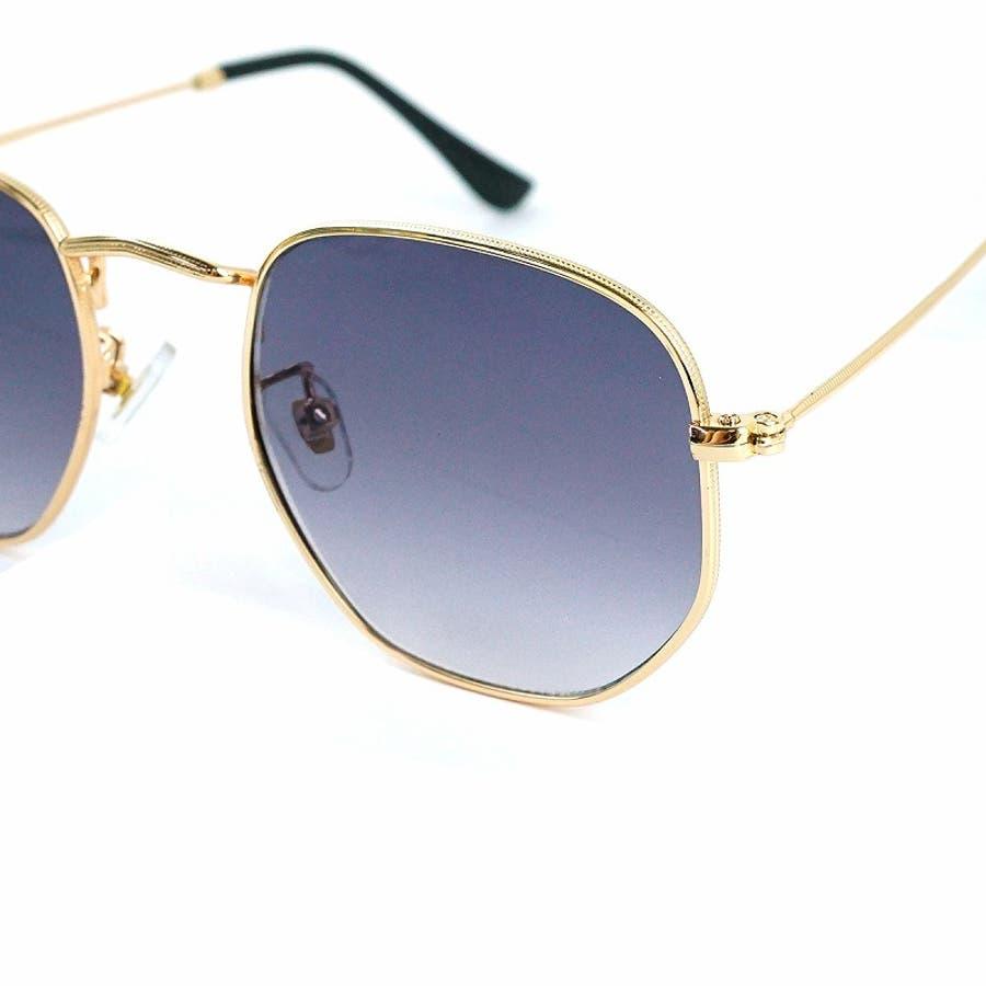 サングラス メンズ レディース ブランド G15 スモーク クリア カラー レンズ おしゃれ UVカット 7JEWELRYヘキサゴナル サングラス 6