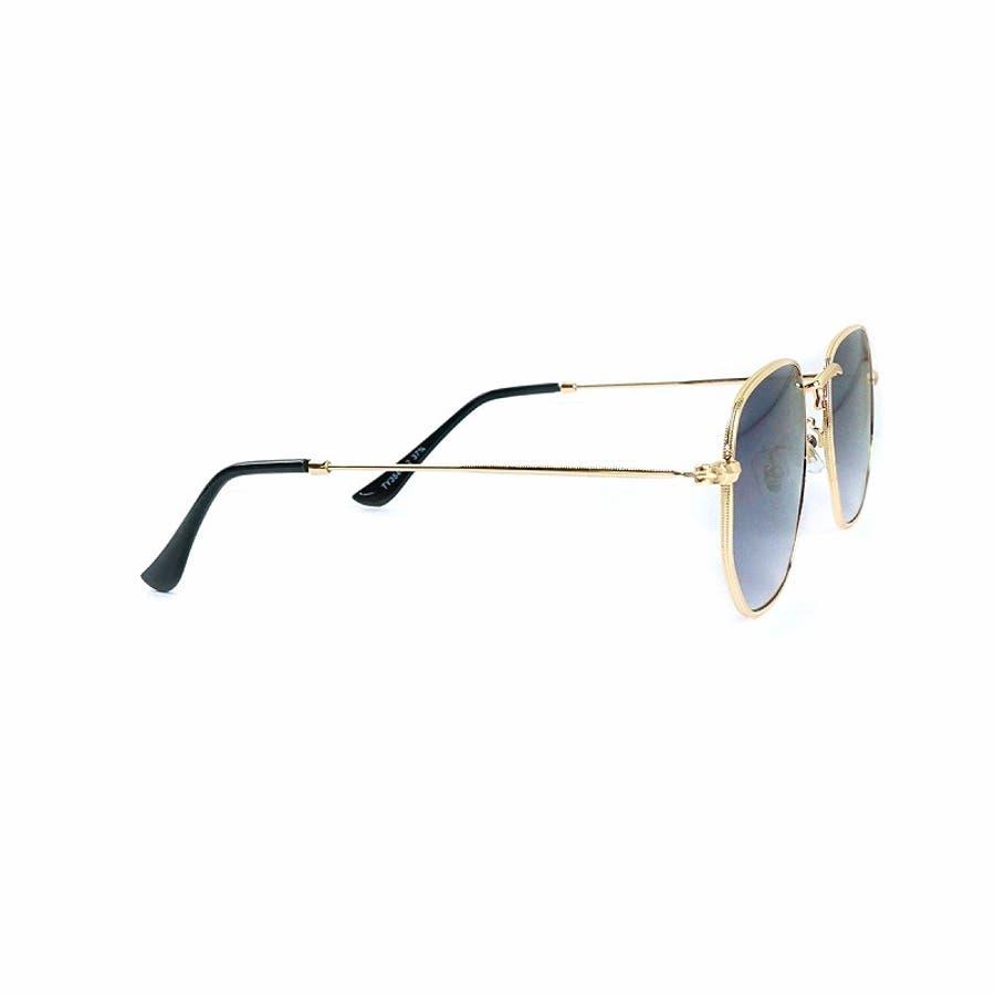 サングラス メンズ レディース ブランド G15 スモーク クリア カラー レンズ おしゃれ UVカット 7JEWELRYヘキサゴナル サングラス 7