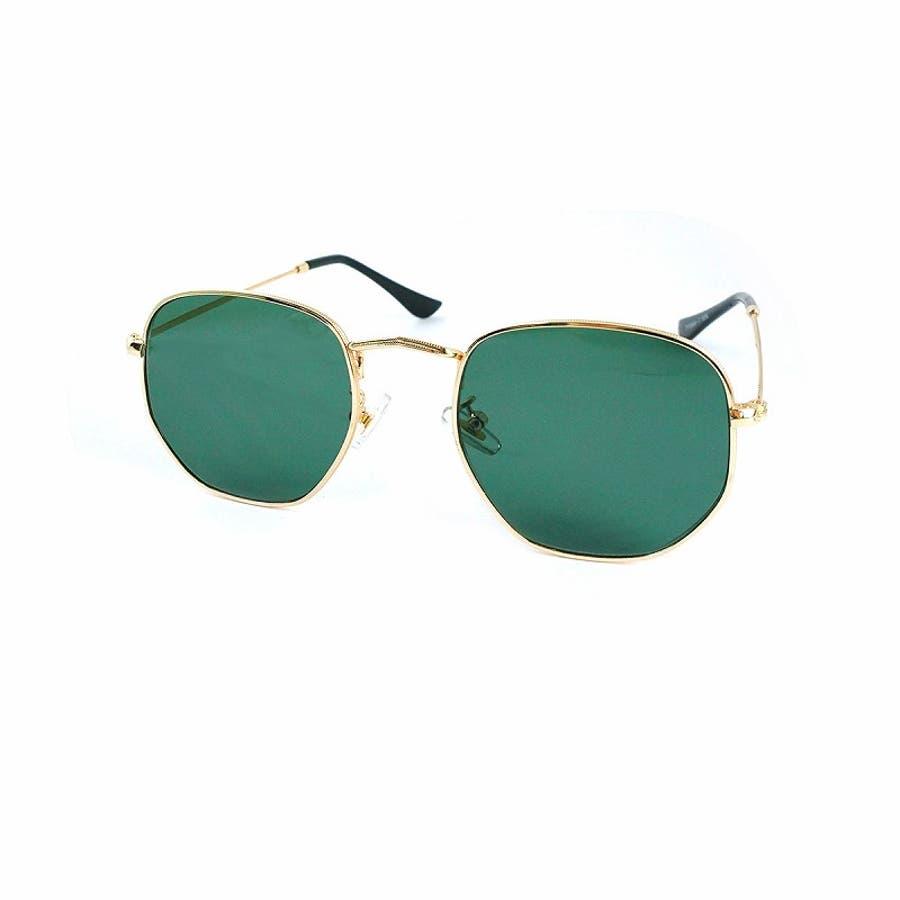 サングラス メンズ レディース ブランド G15 スモーク クリア カラー レンズ おしゃれ UVカット 7JEWELRYヘキサゴナル サングラス 47