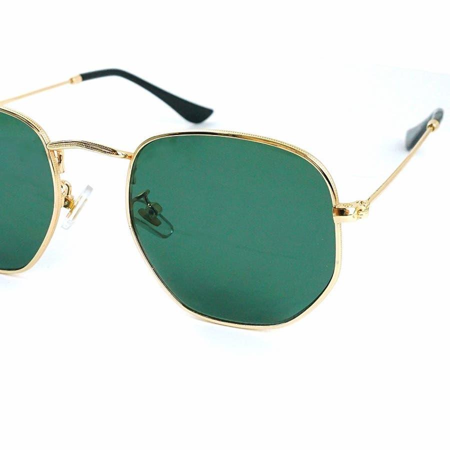 サングラス メンズ レディース ブランド G15 スモーク クリア カラー レンズ おしゃれ UVカット 7JEWELRYヘキサゴナル サングラス 9