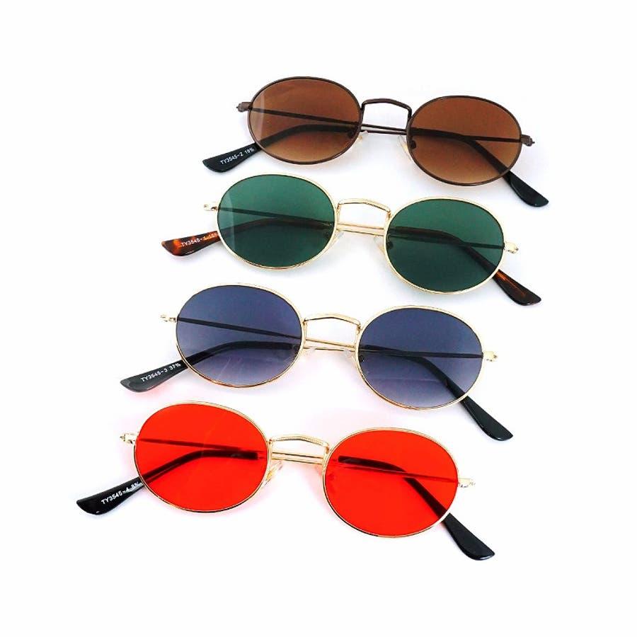 サングラス メンズ レディース ブランド G15 ブラウン スモーク レッド カラー レンズ おしゃれ UVカット 7JEWELRYラウンド サングラス 1