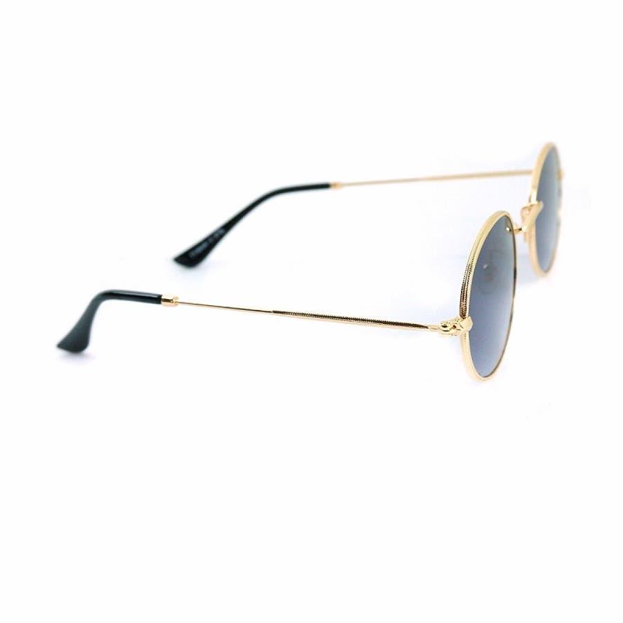 サングラス メンズ レディース ブランド G15 ブラウン スモーク レッド カラー レンズ おしゃれ UVカット 7JEWELRYラウンド サングラス 4