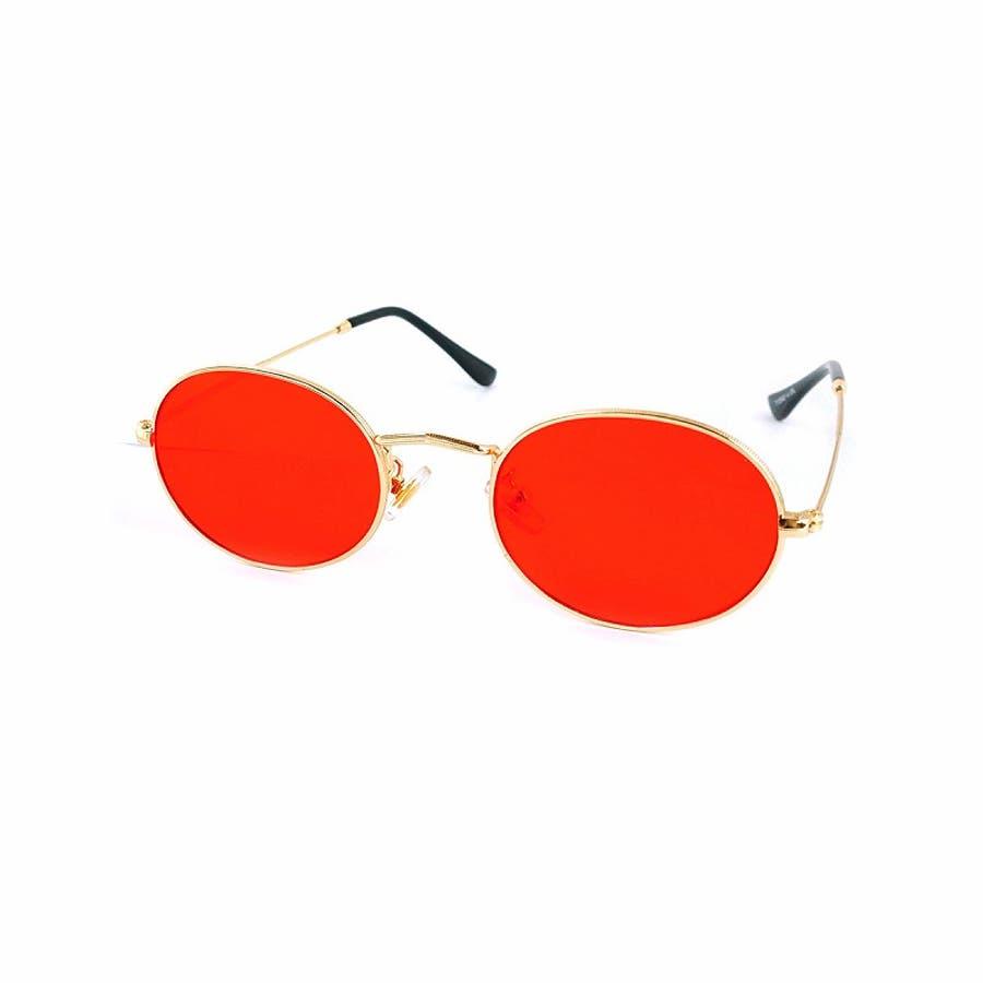 サングラス メンズ レディース ブランド G15 ブラウン スモーク レッド カラー レンズ おしゃれ UVカット 7JEWELRYラウンド サングラス 5
