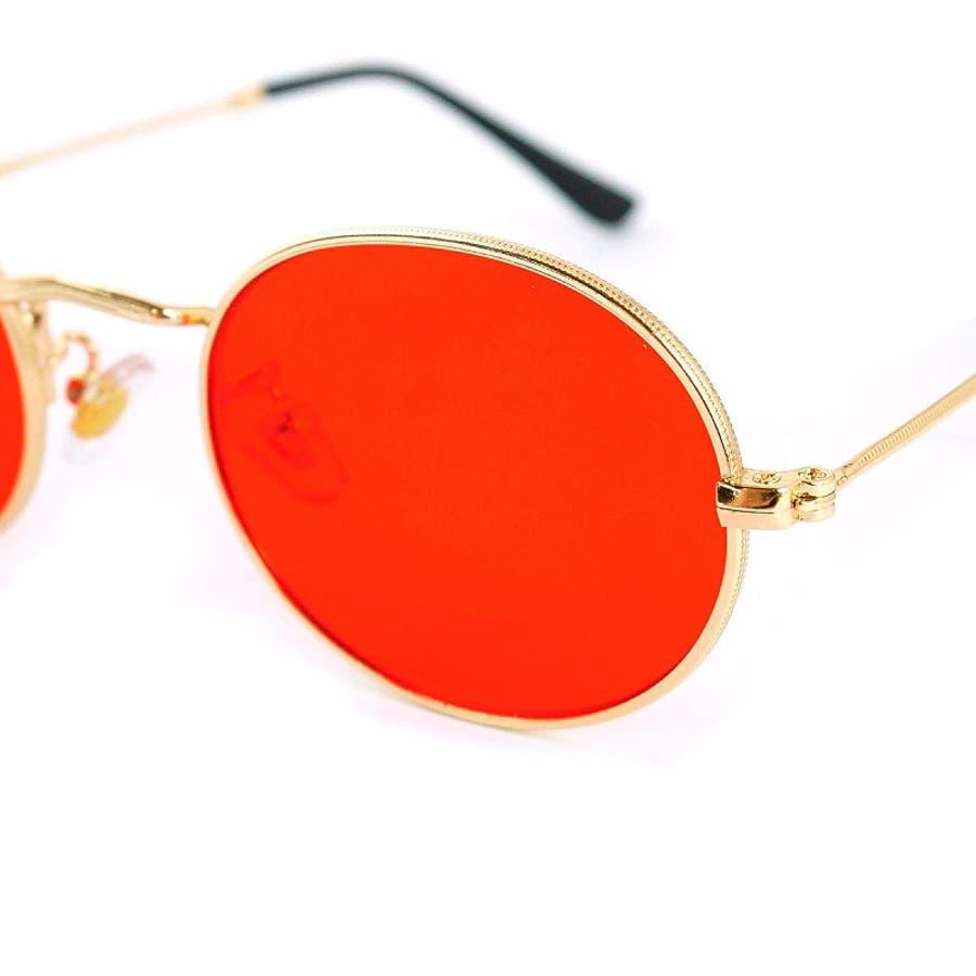 サングラス メンズ レディース ブランド G15 ブラウン スモーク レッド カラー レンズ おしゃれ UVカット 7JEWELRYラウンド サングラス 6