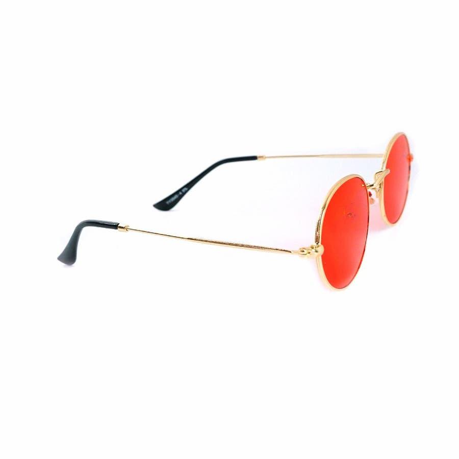 サングラス メンズ レディース ブランド G15 ブラウン スモーク レッド カラー レンズ おしゃれ UVカット 7JEWELRYラウンド サングラス 7