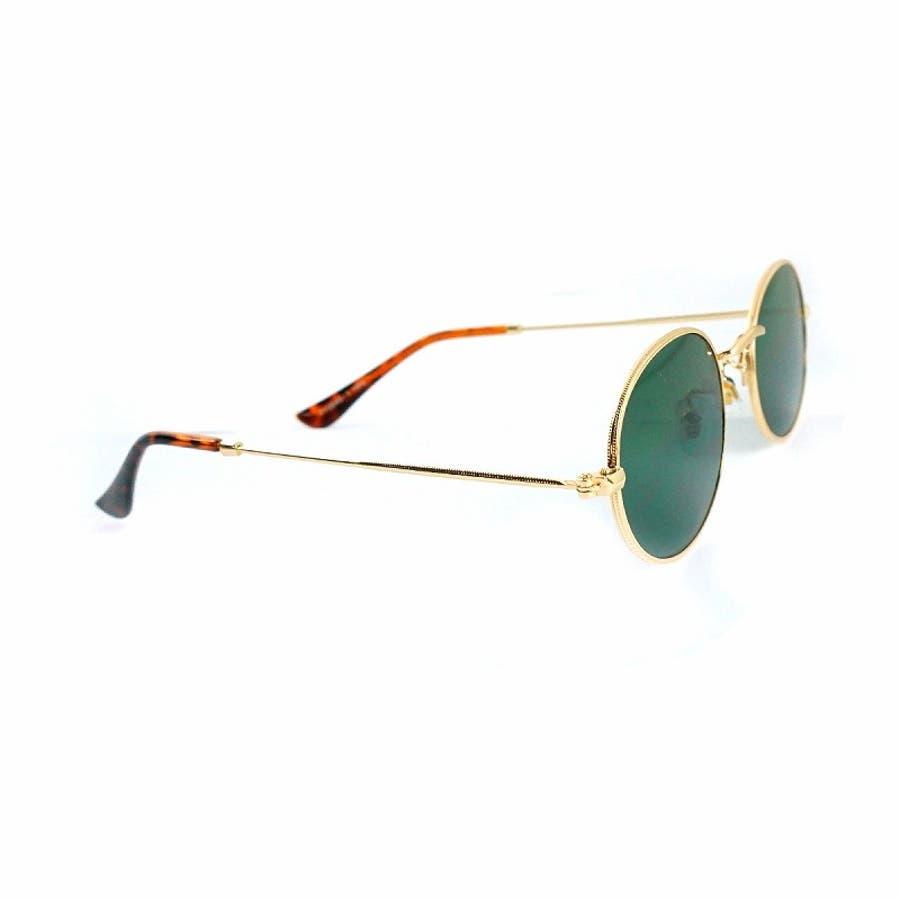 サングラス メンズ レディース ブランド G15 ブラウン スモーク レッド カラー レンズ おしゃれ UVカット 7JEWELRYラウンド サングラス 10