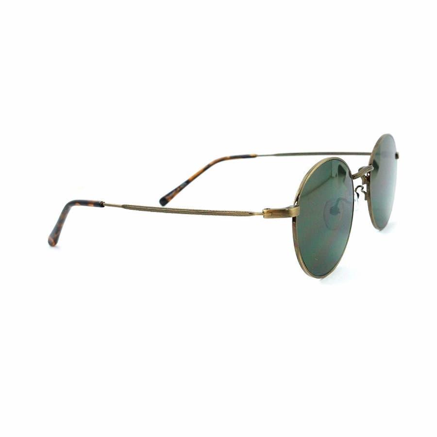 サングラス メンズ レディース ブランド スモーク G15 イエロー グレー ブラウン カラー レンズ おしゃれ UVカット7JEWELRY ラウンド サングラス 5