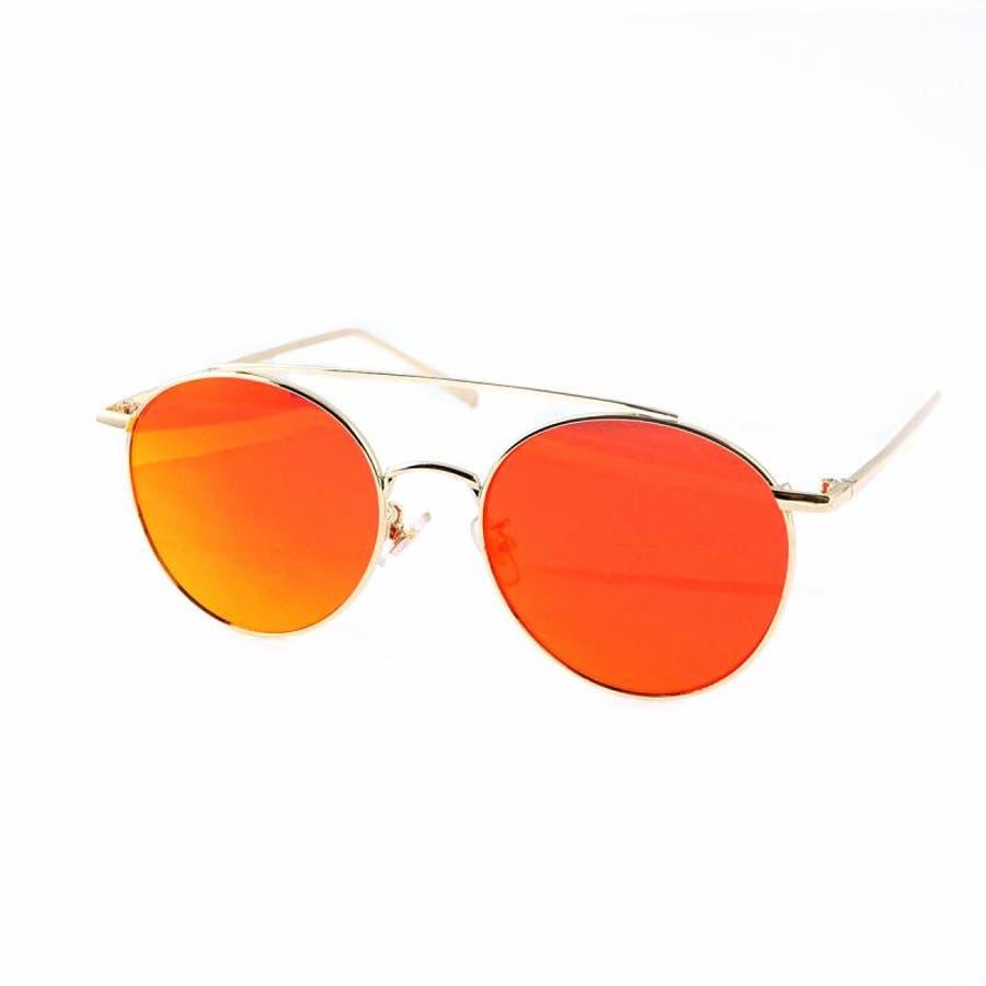 7JEWELRY ティアドロップ サングラス グリーン イエロー ブルー オレンジ ピンク ミラー レンズ シルバーフレーム紫外線カット 99