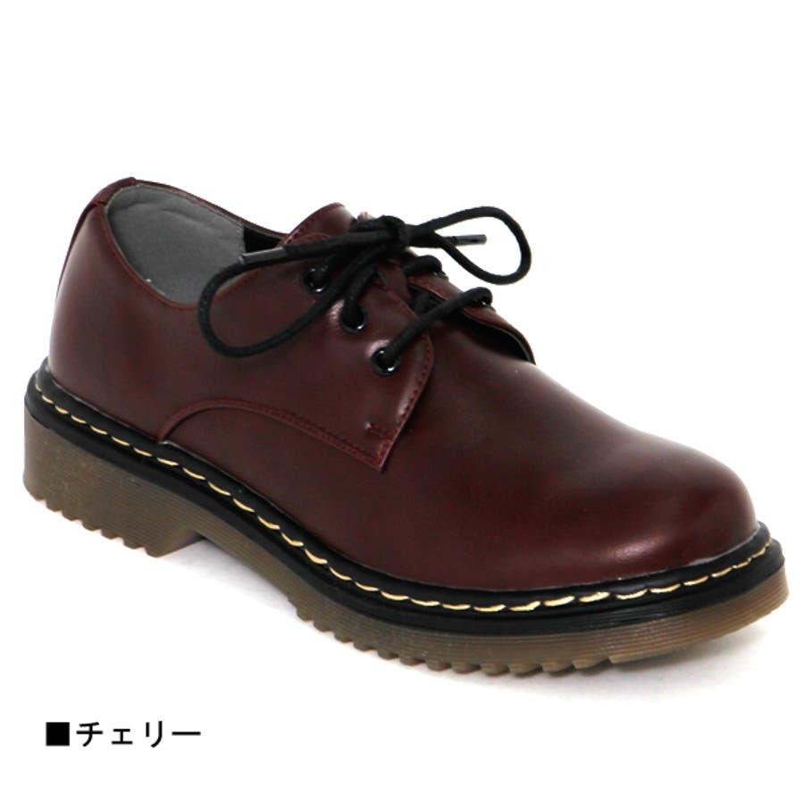 大人気ブリティッシュ3ホールレースアップシューズ マニッシュ ブーツ 英国風 タンクソール 靴 3