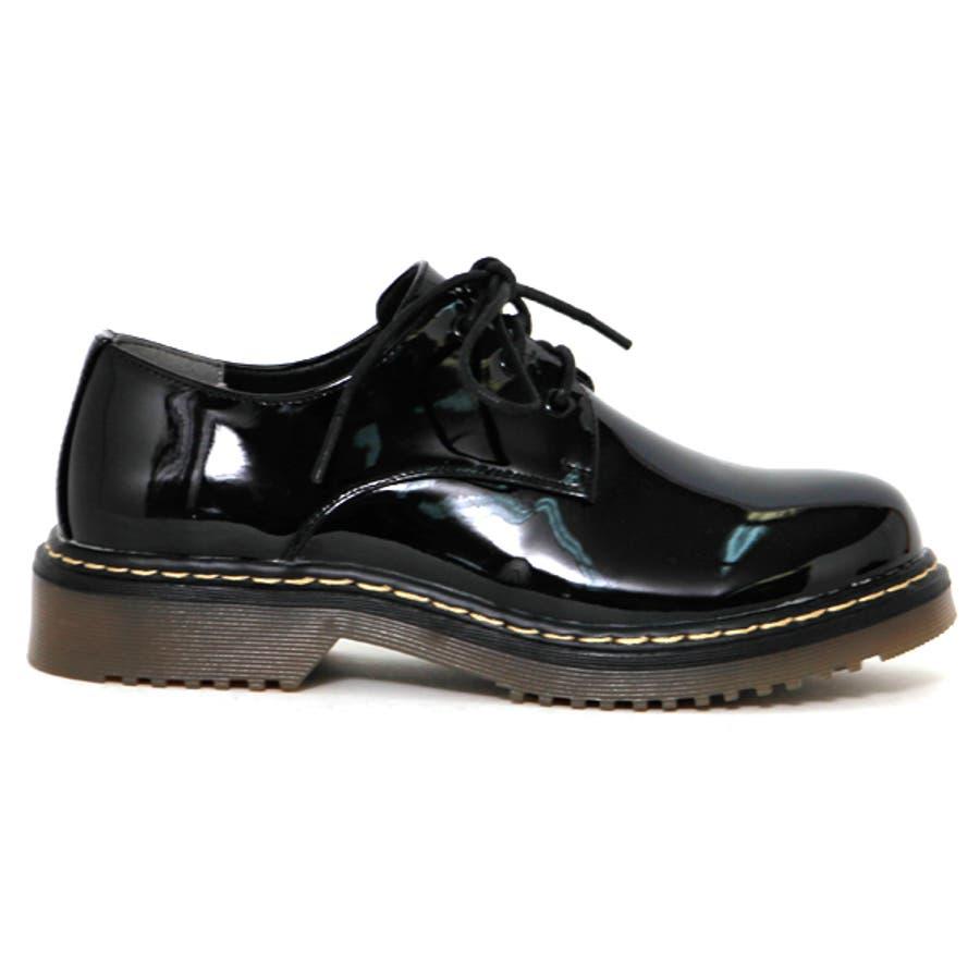 大人気ブリティッシュ3ホールレースアップシューズ マニッシュ ブーツ 英国風 タンクソール 靴 5