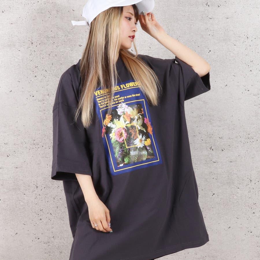 天竺フォトプリントBIG Tシャツ お揃い ダンス オーバーサイズ オルチャン 男女兼用 レディース メンズ 体型カバー  ビッグシルエット 大きいサイズ ビッグ 3