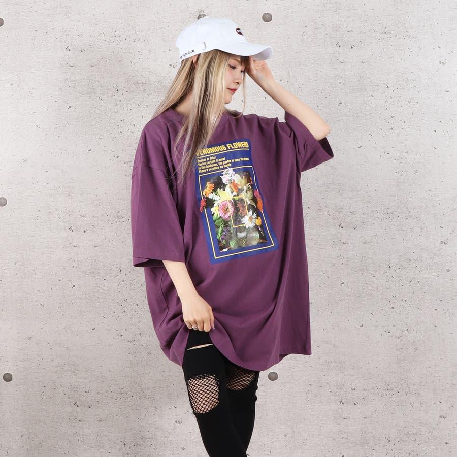 天竺フォトプリントBIG Tシャツ お揃い ダンス オーバーサイズ オルチャン 男女兼用 レディース メンズ 体型カバー  ビッグシルエット 大きいサイズ ビッグ 8