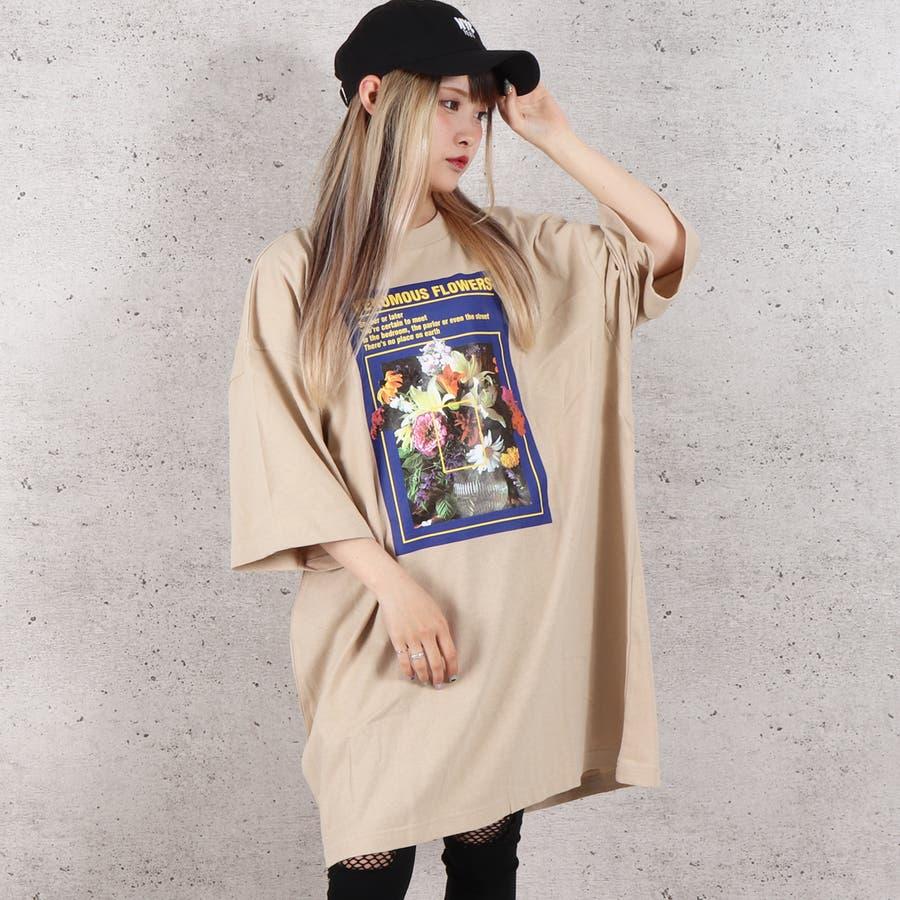 天竺フォトプリントBIG Tシャツ お揃い ダンス オーバーサイズ オルチャン 男女兼用 レディース メンズ 体型カバー  ビッグシルエット 大きいサイズ ビッグ 2