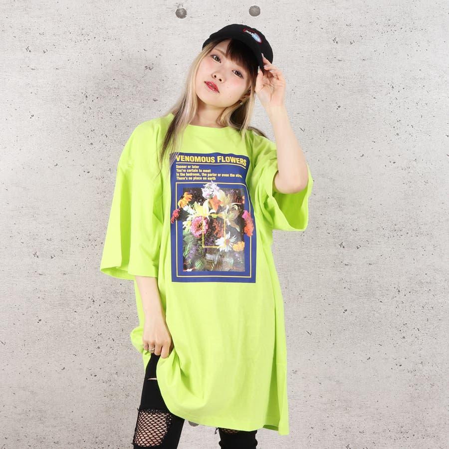 天竺フォトプリントBIG Tシャツ お揃い ダンス オーバーサイズ オルチャン 男女兼用 レディース メンズ 体型カバー  ビッグシルエット 大きいサイズ ビッグ 6