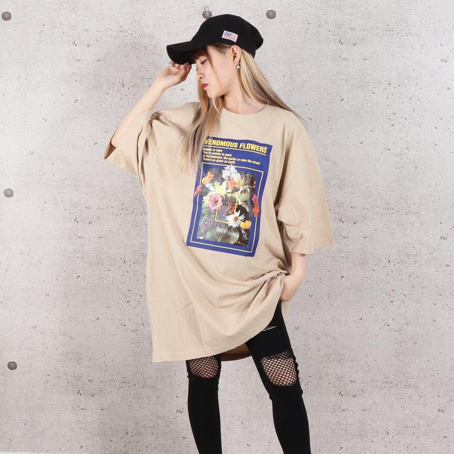 天竺フォトプリントBIG Tシャツ お揃い ダンス オーバーサイズ オルチャン 男女兼用 レディース メンズ 体型カバー  ビッグシルエット 大きいサイズ ビッグ 5