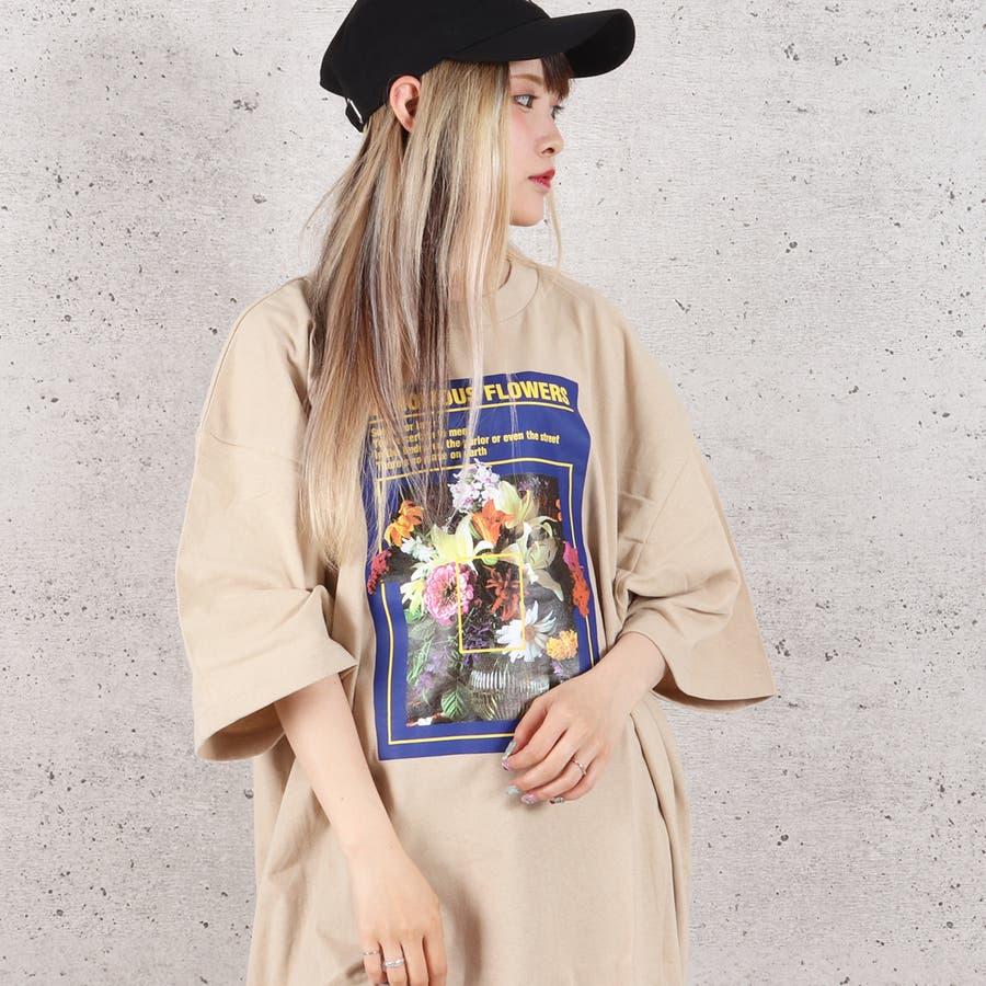 天竺フォトプリントBIG Tシャツ お揃い ダンス オーバーサイズ オルチャン 男女兼用 レディース メンズ 体型カバー  ビッグシルエット 大きいサイズ ビッグ 4