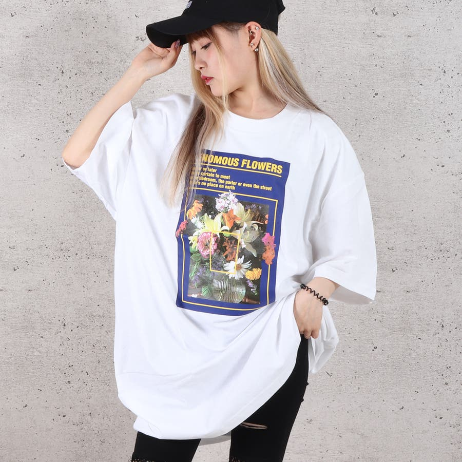 天竺フォトプリントBIG Tシャツ お揃い ダンス オーバーサイズ オルチャン 男女兼用 レディース メンズ 体型カバー  ビッグシルエット 大きいサイズ ビッグ 1