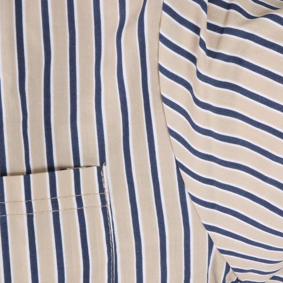 ストライプショート丈半袖シャツ 8