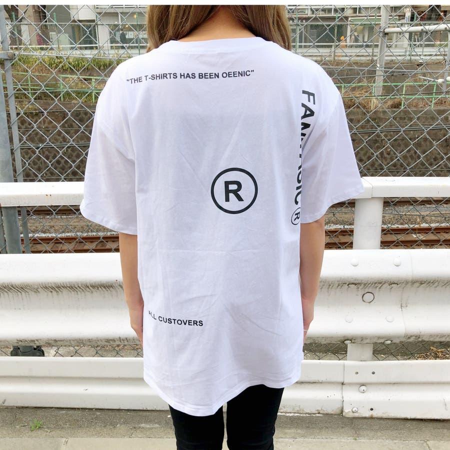ロゴプリントBIGルーズTシャツ 春 夏 Tシャツ カットソー トップス ロゴ プリント BIG ルーズ オーバー ストリート ダンス スポーツ  4