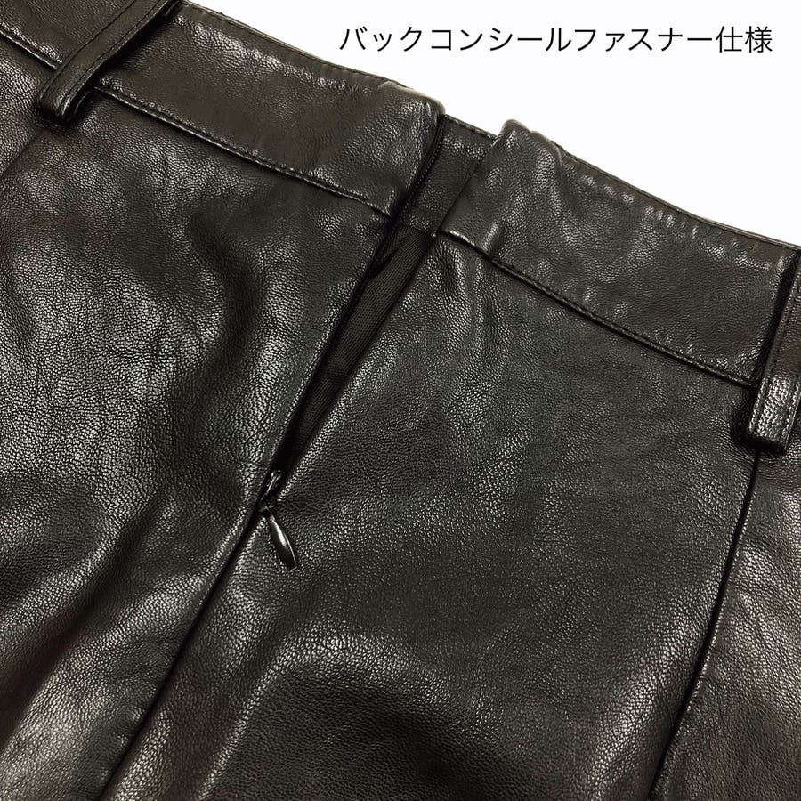 フロントポケット合皮台形ミニスカート スカート ボトムス 9