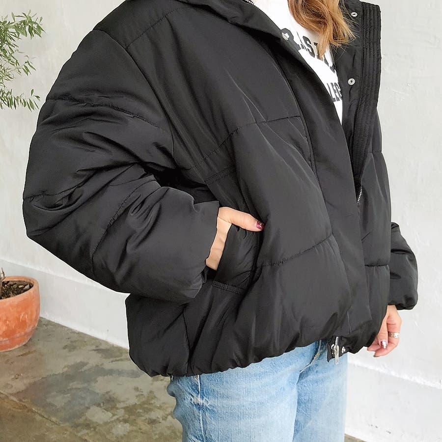 ゆったりフード中綿ZIPブルゾン 秋 冬 ブルゾン コート アウター 防寒 中綿 トップス ゆったり  5