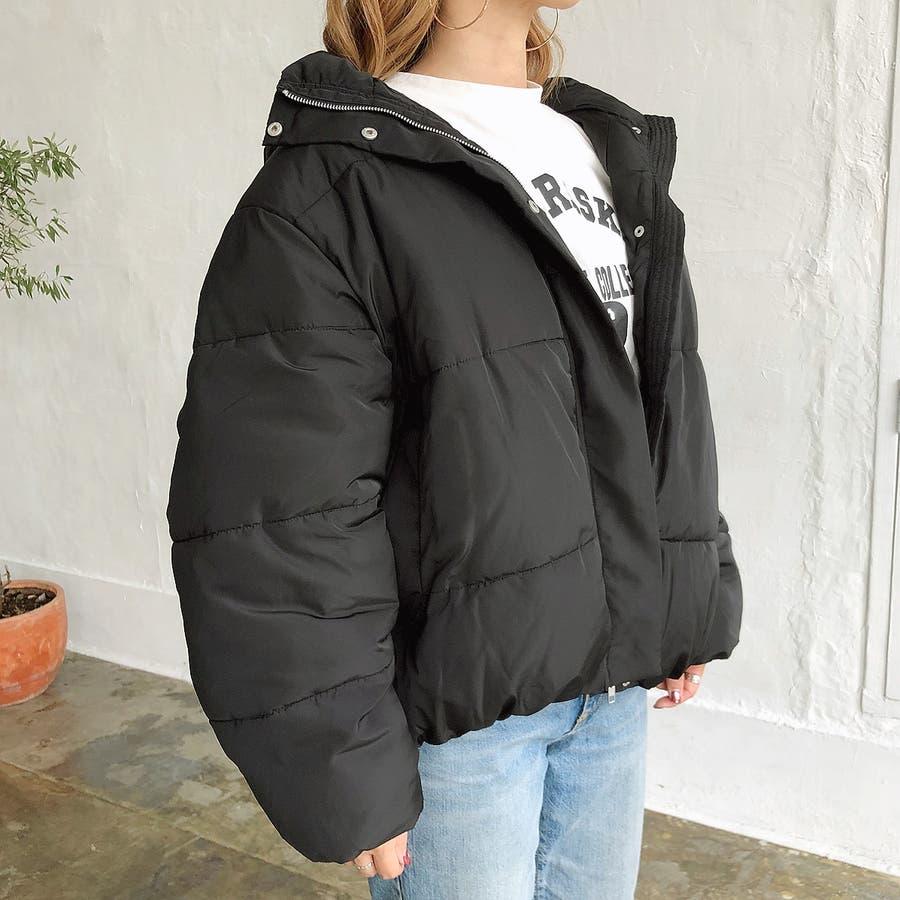 ゆったりフード中綿ZIPブルゾン 秋 冬 ブルゾン コート アウター 防寒 中綿 トップス ゆったり  6