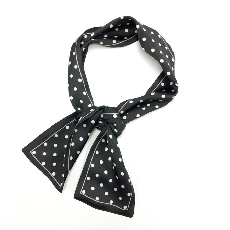 ドット柄スカーフ スカーフ ヘアアクセ 3