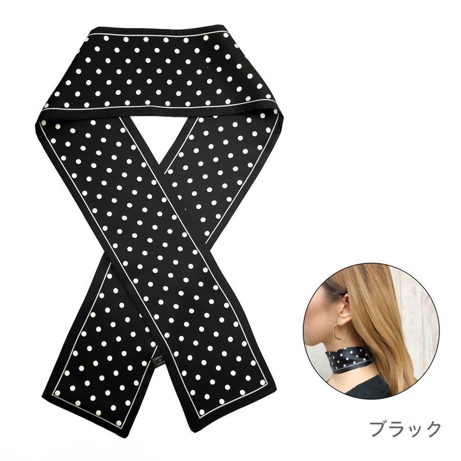 ドット柄スカーフ スカーフ ヘアアクセ 21