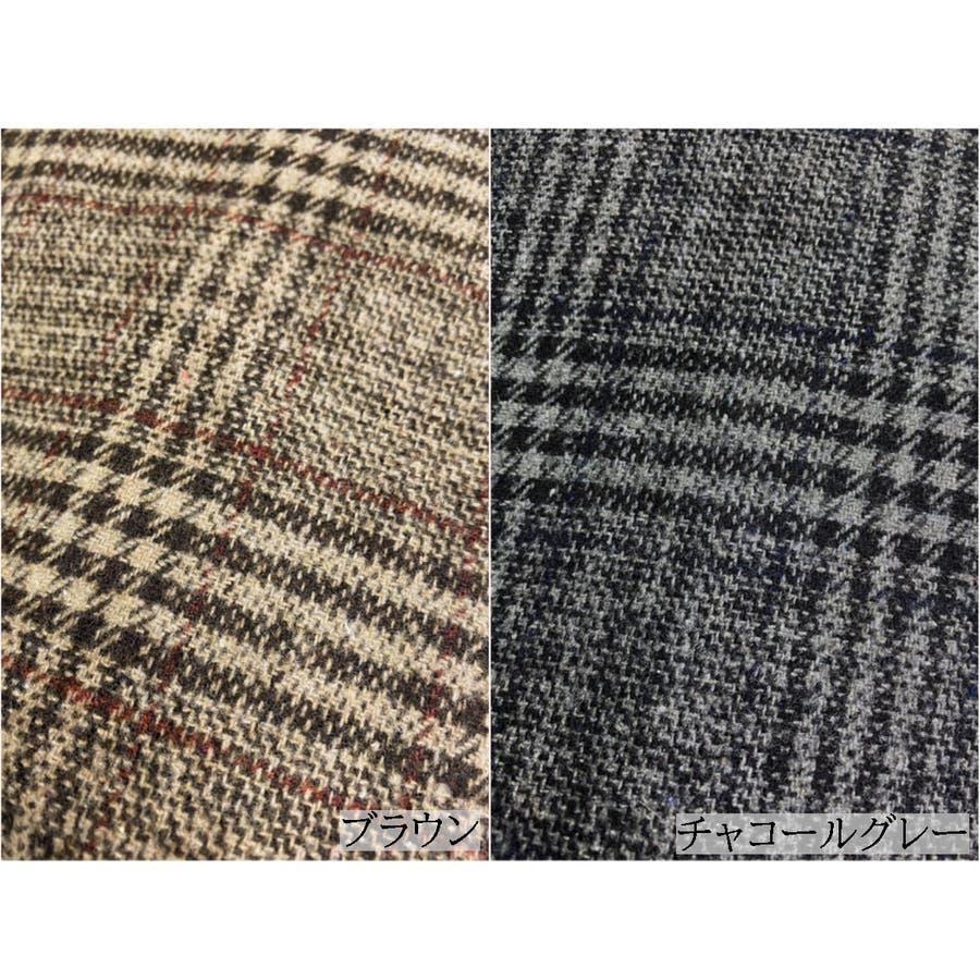 グレンチェック1つ釦ビッグジャケット アウター チェック 羽織 ジャケット ゆったり 秋 冬 7
