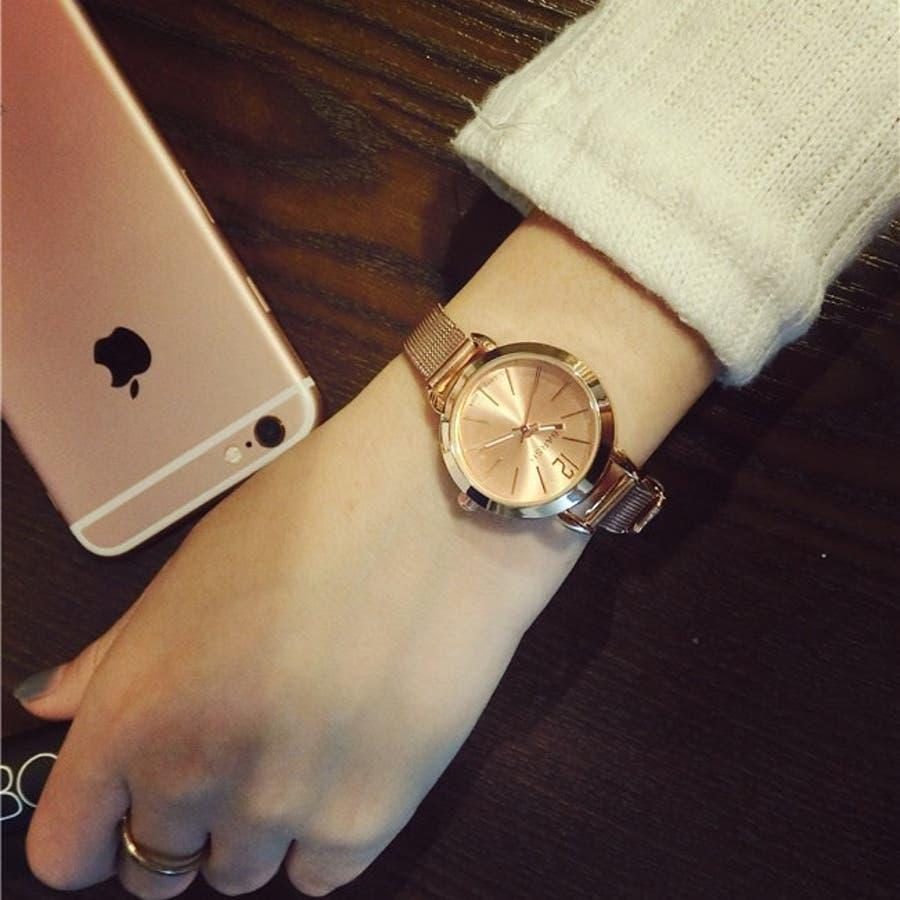 half off 9c8d3 c6623 メッシュベルトウォッチ ベルト メッシュ カジュアル 大人 シンプル 時計 腕時計 ゴールド シルバー ピンクゴールド