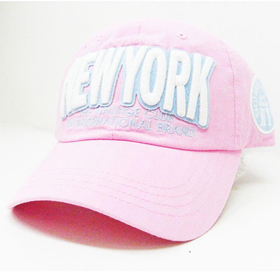 かわいい!お気に入り 帽子 ロゴキャップ コットンキャップ ゴルフ メンズ レディース ロゴ『NEWYORK』  CR9201 麦酒