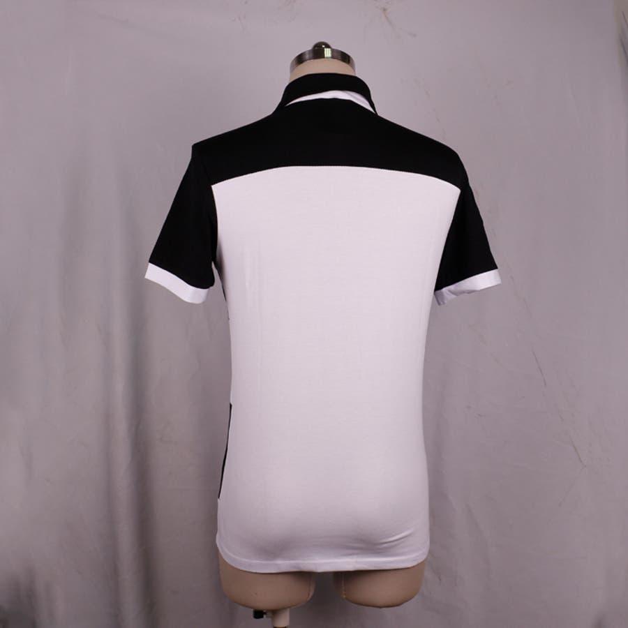 ポロシャツ メンズ Tシャツ カットソー 半袖 無地 ゴルフウェア ストレッチ トップス カジュアル コーデ 黒 白 夏 8