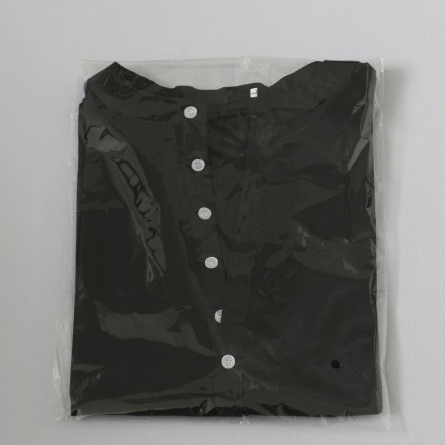 Tシャツ カットソー メンズ ヘンリーネック 長袖 無地 ロングスリーブ トップス キレイめ コーデ 黒 白 グレー 5