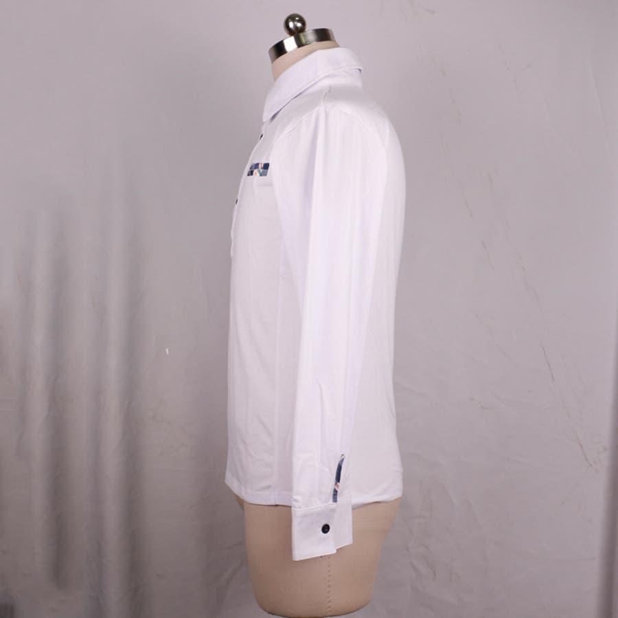 ポロシャツ メンズ Tシャツ カットソー 長袖 ロンT チェック ゴルフウェア トップス カジュアル コーデ 6