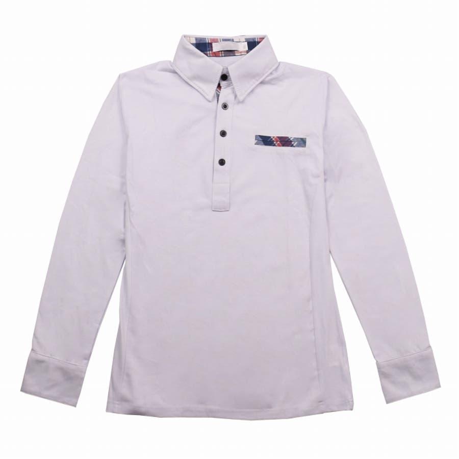 ポロシャツ メンズ Tシャツ カットソー 長袖 ロンT チェック ゴルフウェア トップス カジュアル コーデ 8