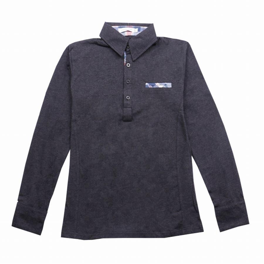 ポロシャツ メンズ Tシャツ カットソー 長袖 ロンT チェック ゴルフウェア トップス カジュアル コーデ 10