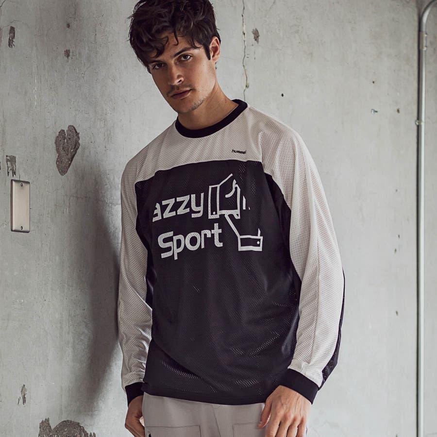 hummel ヒュンメル × Jazzy Sport ジャジースポート バイカラー 切替 メッシュ ロング Tシャツ トップス コラボメンズ おしゃれ ブランド 21