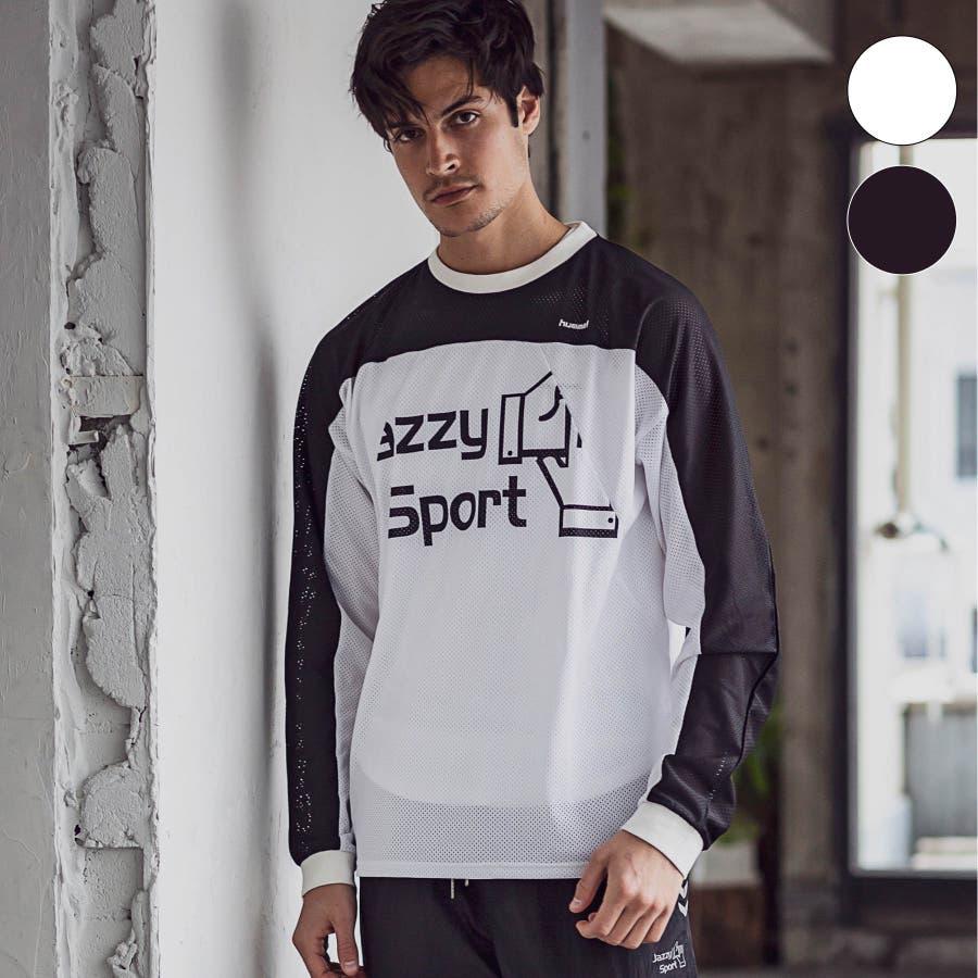 hummel ヒュンメル × Jazzy Sport ジャジースポート バイカラー 切替 メッシュ ロング Tシャツ トップス コラボメンズ おしゃれ ブランド 16
