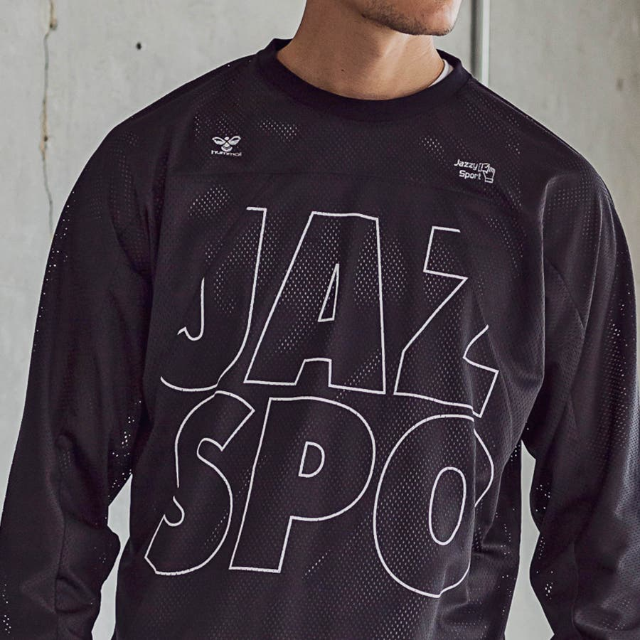 hummel ヒュンメル × Jazzy Sport ジャジースポート 切替 メッシュ ロング Tシャツ トップス コラボ メンズおしゃれ ブランド 4