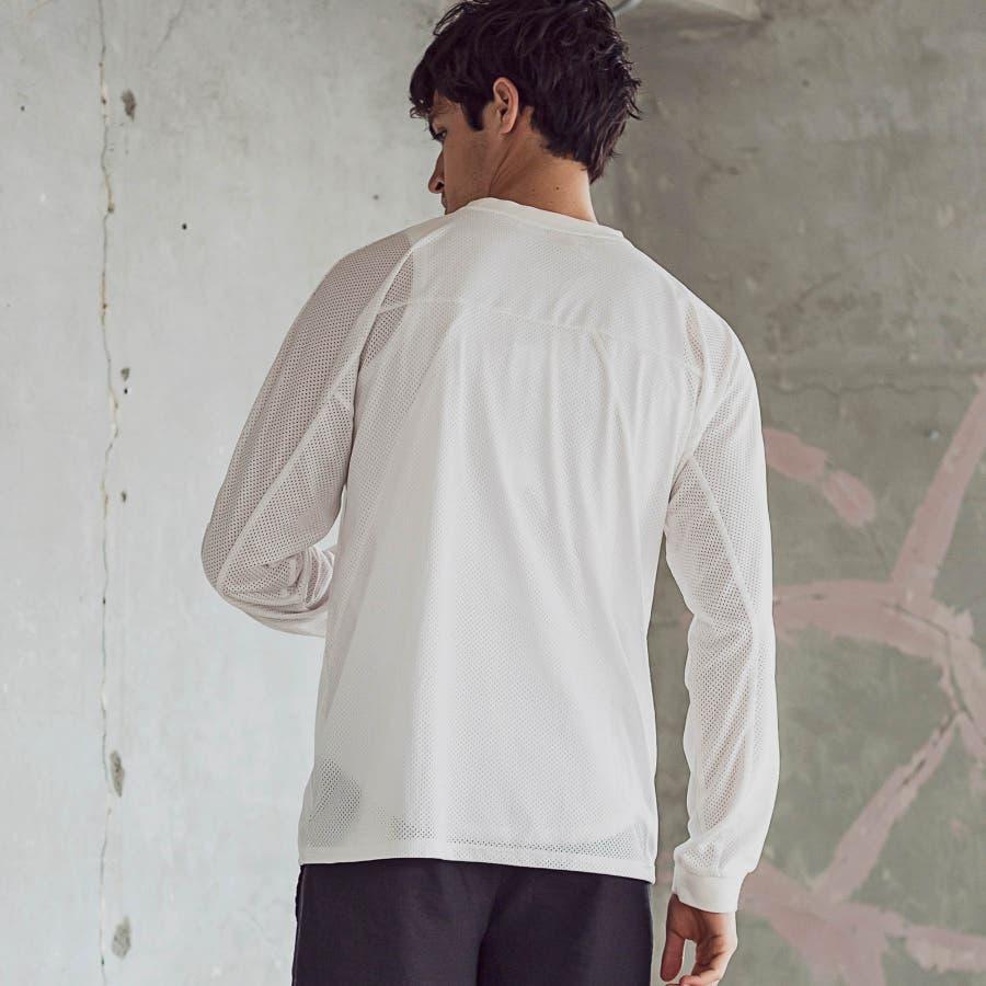 hummel ヒュンメル × Jazzy Sport ジャジースポート 切替 メッシュ ロング Tシャツ トップス コラボ メンズおしゃれ ブランド 8