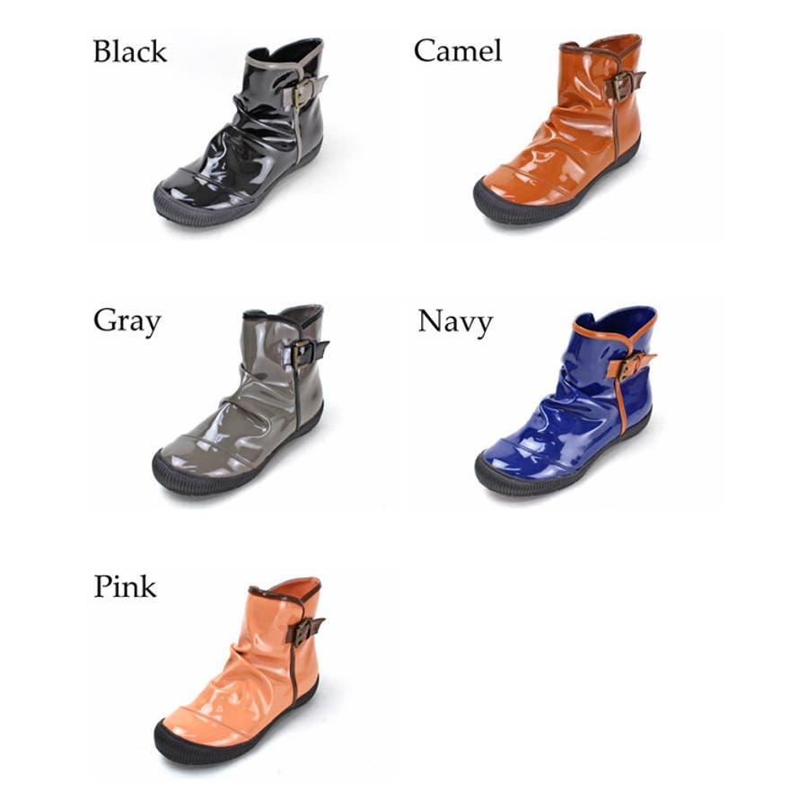 レインブーツ ショート ギャザー カジュアル グリップ性が強く雨でも雪でも安心 レディース ショート 長靴 コーデ 人気 ゴムシンプル ロングブーツ 雨の日 エナメル 通勤 日本製 防寒 通学 雨靴 2